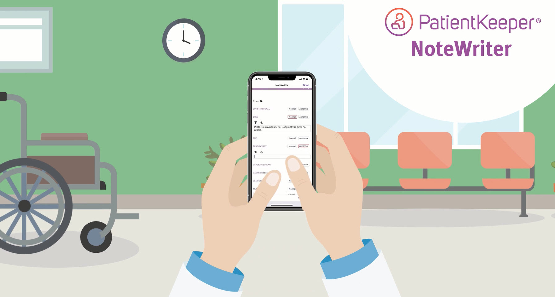 Clinical Communications Suite can be enhanced with PatientKeeper's provider documentation app, NoteWriter